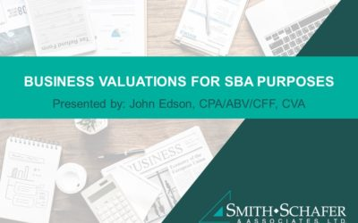 Business Valuations for SBA and Banking Purposes